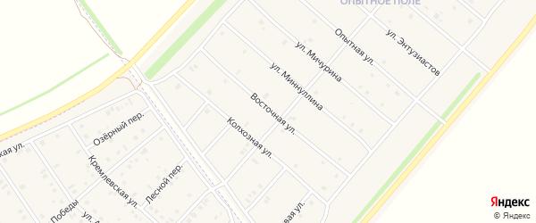 Восточная улица на карте деревни Верхнечерекулево с номерами домов