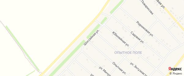 Шоссейная улица на карте деревни Верхнечерекулево с номерами домов