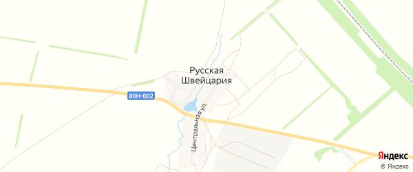Карта деревни Русской Швейцарии в Башкортостане с улицами и номерами домов