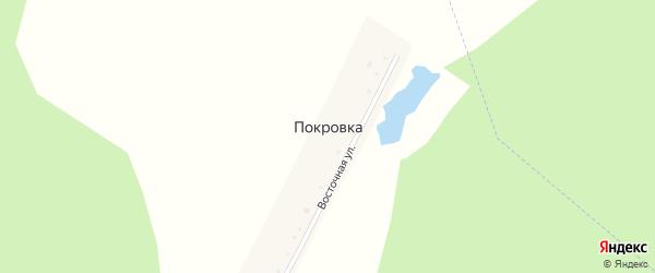 Восточная улица на карте деревни Покровки с номерами домов