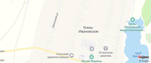 Улица Гагарина на карте Усени-Ивановского села с номерами домов