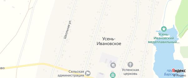 Центральная улица на карте деревни Красноречки с номерами домов