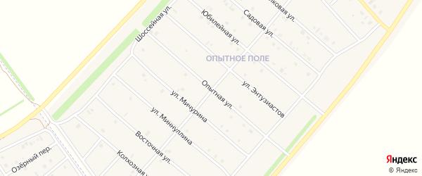 Опытная улица на карте деревни Верхнечерекулево с номерами домов