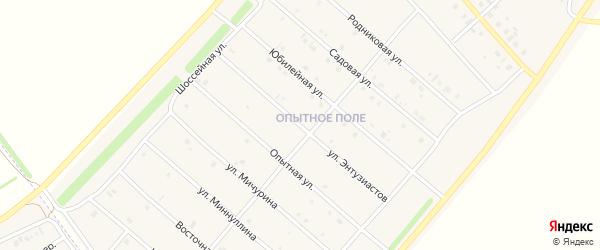 Улица Энтузиастов на карте деревни Верхнечерекулево с номерами домов