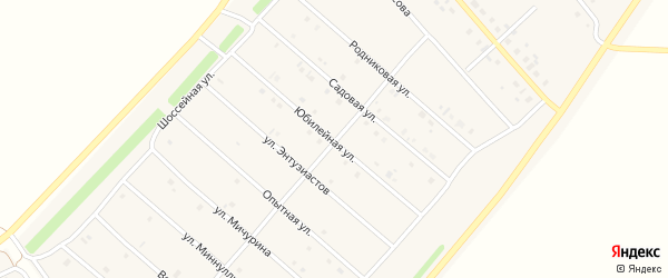 Юбилейная улица на карте деревни Верхнечерекулево с номерами домов