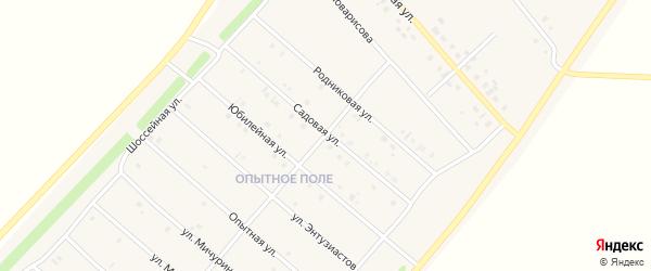 Садовая улица на карте деревни Верхнечерекулево с номерами домов