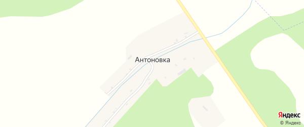 Переулочная улица на карте деревни Антоновки с номерами домов