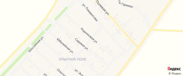 Родниковая улица на карте деревни Верхнечерекулево с номерами домов