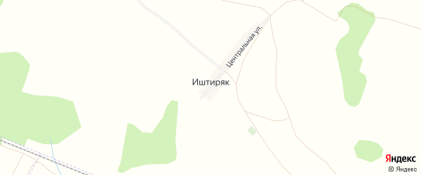 Карта деревни Иштиряка в Башкортостане с улицами и номерами домов