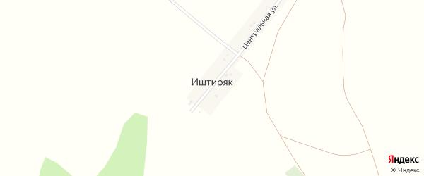 Центральная улица на карте деревни Иштиряка с номерами домов