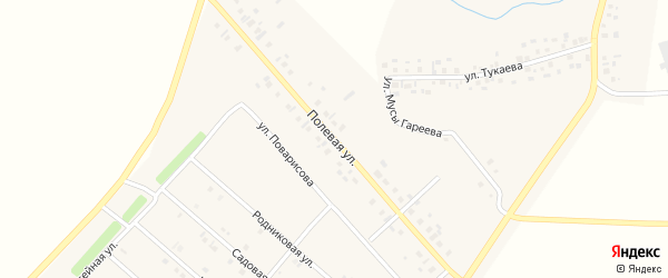 Полевая улица на карте деревни Верхнечерекулево с номерами домов