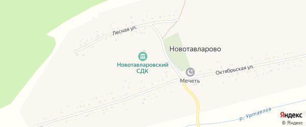 Лесная улица на карте деревни Новотавларово с номерами домов