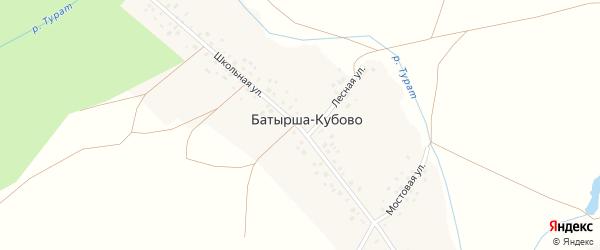Школьная улица на карте села Рассвета с номерами домов