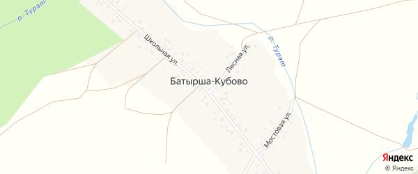 Лесной переулок на карте села Батырша-Кубово с номерами домов