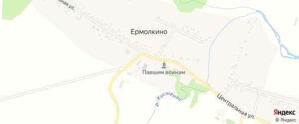 Центральная улица на карте села Ермолкино с номерами домов