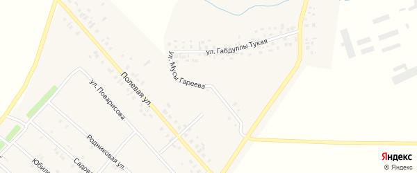 Улица М.Гареева на карте деревни Верхнечерекулево с номерами домов