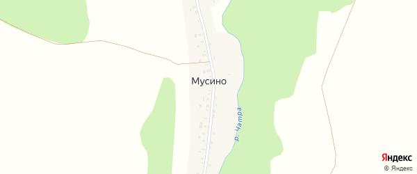 Центральная улица на карте деревни Мусино с номерами домов