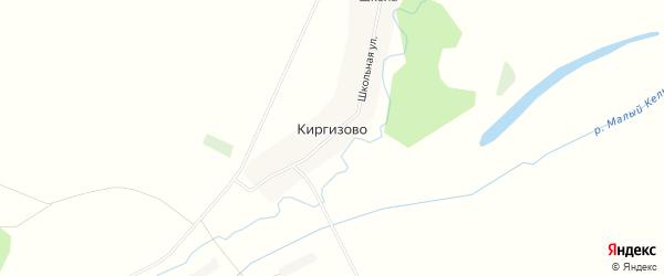 Карта деревни Киргизово в Башкортостане с улицами и номерами домов