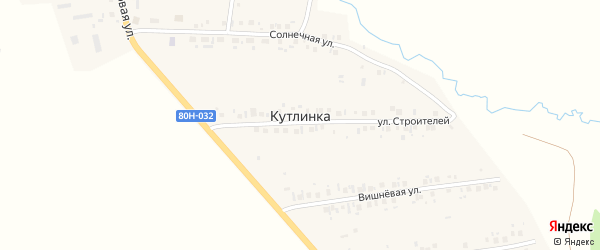 Промышленная улица на карте деревни Кутлинки с номерами домов