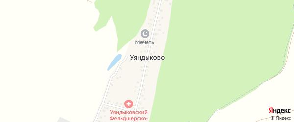 Новая улица на карте деревни Уяндыково с номерами домов