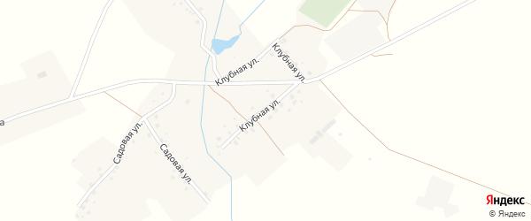Клубная улица на карте села Батырша-Кубово с номерами домов