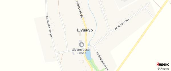 Советская улица на карте села Шушнура с номерами домов