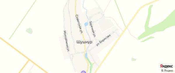 Карта села Шушнура в Башкортостане с улицами и номерами домов