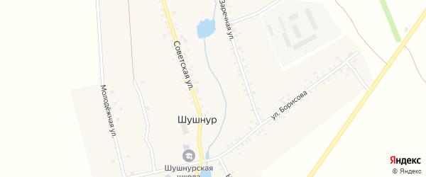 Молодежная улица на карте села Шушнура с номерами домов
