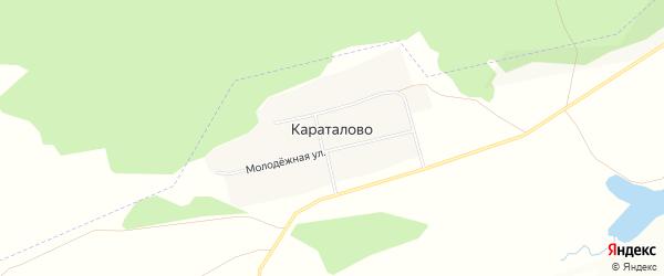 Карта села Караталово в Башкортостане с улицами и номерами домов