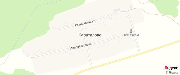Молодежная улица на карте села Караталово с номерами домов