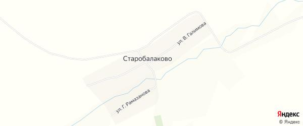 Карта села Старобалаково в Башкортостане с улицами и номерами домов