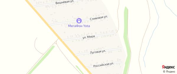 Улица Мира на карте деревни Кутлинки с номерами домов