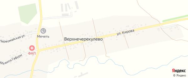 Улица Кирова на карте деревни Верхнечерекулево с номерами домов