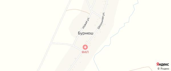 Новая улица на карте деревни Бурнюша с номерами домов