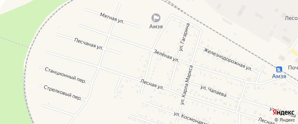 Улица Калинина на карте села Амзи с номерами домов