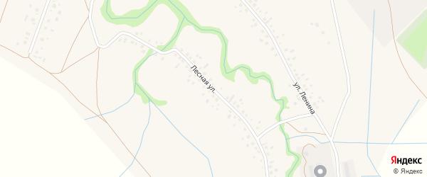 Лесная улица на карте села Копей-Кубово с номерами домов