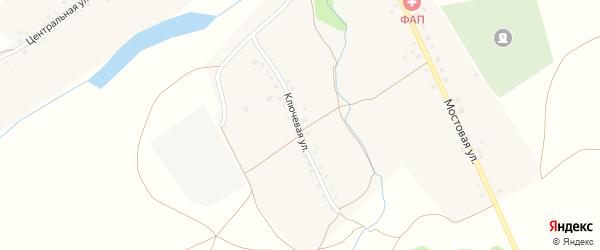 Ключевая улица на карте села Урзайбаша с номерами домов