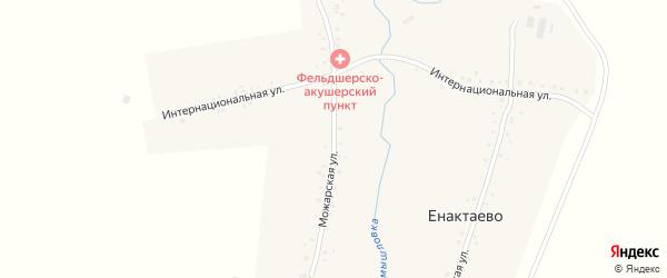 Можарская улица на карте деревни Енактаево с номерами домов
