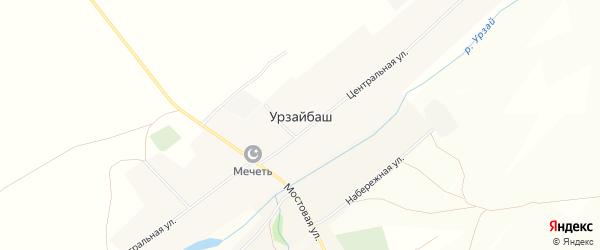 Карта села Урзайбаша в Башкортостане с улицами и номерами домов