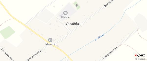 Центральная улица на карте села Урзайбаша с номерами домов
