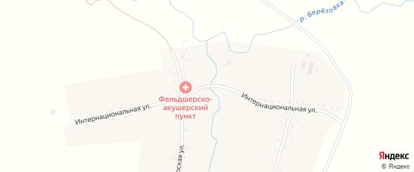 Интернациональная улица на карте деревни Енактаево с номерами домов