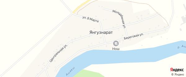 Центральная улица на карте деревни Янгузнарата с номерами домов