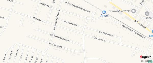 Лесная улица на карте села Амзи с номерами домов