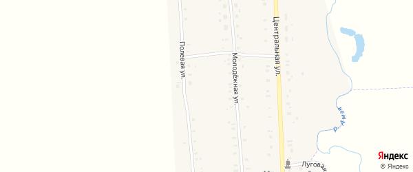 Полевая улица на карте села Музяка с номерами домов