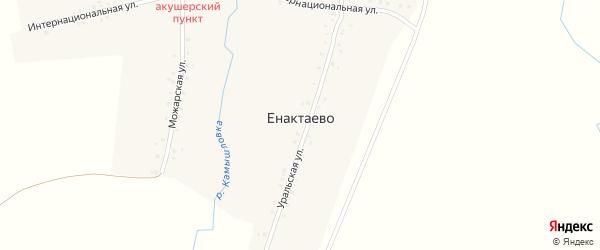 Центральная улица на карте деревни Енактаево с номерами домов