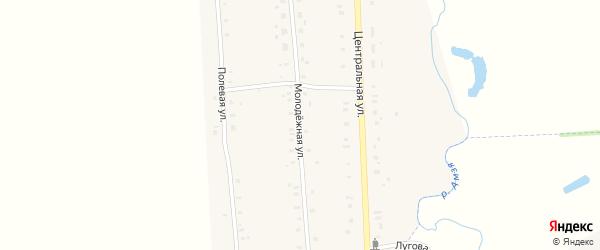 Молодежная улица на карте села Музяка с номерами домов