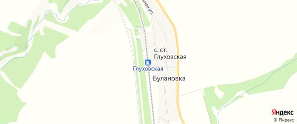 Карта села ст Глуховской в Башкортостане с улицами и номерами домов