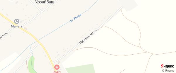 Набережная улица на карте села Урзайбаша с номерами домов