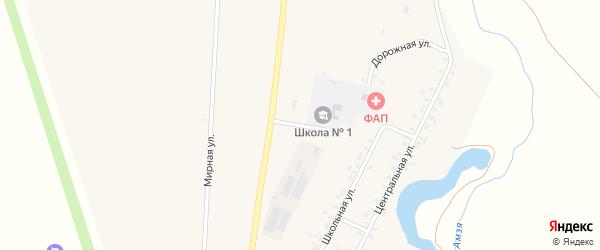 Дорожная улица на карте села Музяка с номерами домов