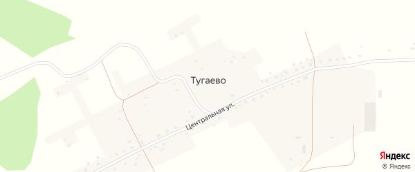 Садовая улица на карте села Тугаево с номерами домов